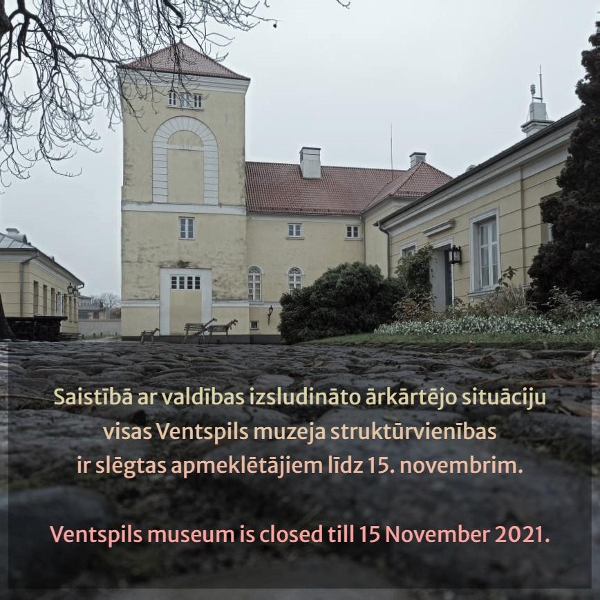 Ventspils muzejs slēgts apmeklētājiem līdz 15. novembrim