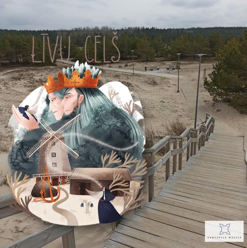 Atrastā Latvija. Ventspils muzejs Līvu ceļā un spēle, kas ietver vietas no visas Latvijas