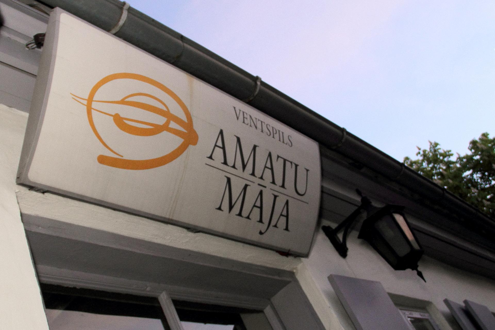 Muzeja nakts klāj palagus Amatu mājā