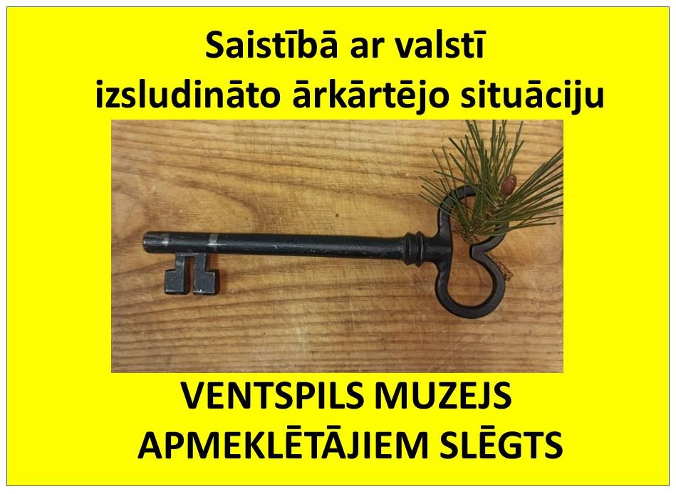 Ventspils muzejs apmeklētājiem slēgts līdz 25.janvārim