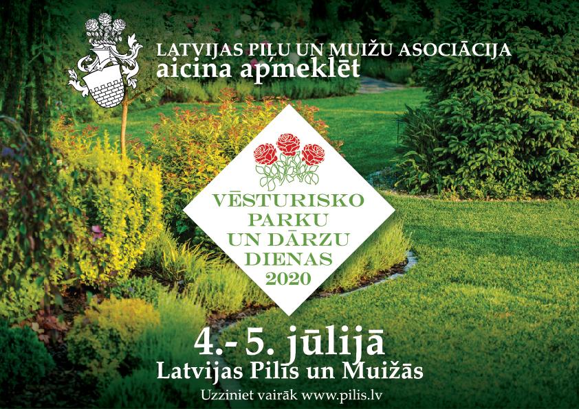 Livonijas ordeņa pils aicina uz Vēsturisko parku un dārzu dienām 2020
